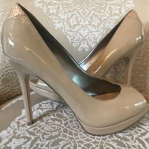 d7924ff8036f Sam Edelman Shoes - Sam Edelman Peep Toe Platform Heel Nude Patent